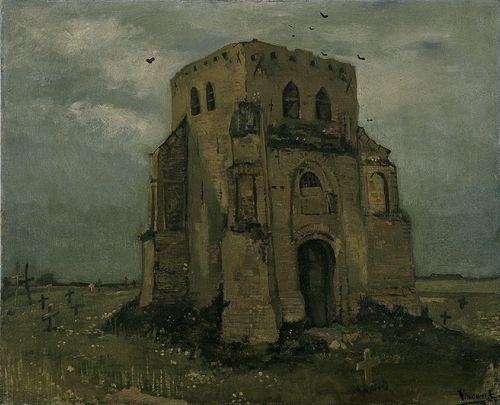 De oude kerktoren te Nuenen ('Het boerenkerkhof')
