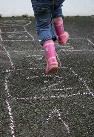 New Home page image - pink wellies