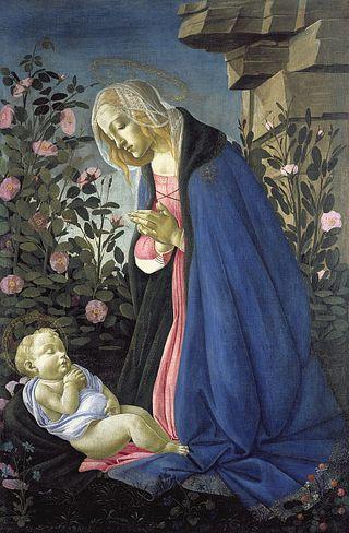 Virgin adoring botticelli