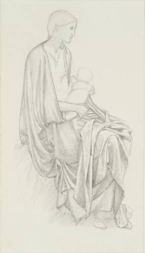 Burne Jones, study of virgin and child