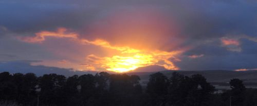 Sunset on the mearns
