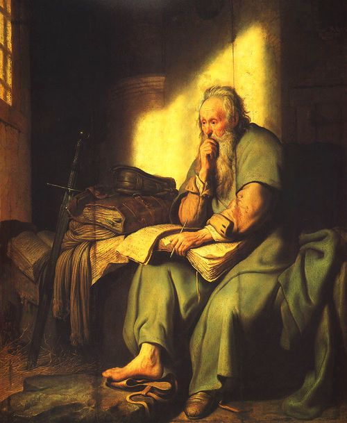 Rembrandt-apostle-paul-in-prison