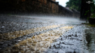 Rain-on-road-Hd-Wallpaper