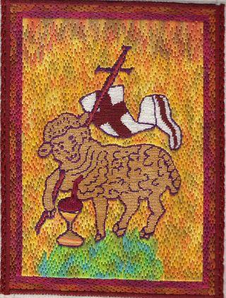 Tapestry the slain lamb