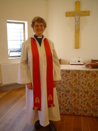 Arderne_as_chaplain_at_st_deiniols_